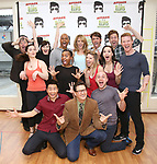 Curtis Wiley, Ashley Spencer, Eric Sciotto with the cast during the Press preview for 'Attack of the Elvis Impersonators'  at Shelter Studios on May 22, 2017 in New York City.
