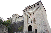 Veduta esterna del Castello di Torrechiara.<br /> Exterior view of the Castle of Torrechiara.<br /> UPDATE IMAGES PRESS/Riccardo De Luca