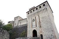 Veduta esterna del Castello di Torrechiara.<br /> Exterior view of the Castle of Torrechiara.<br /> UPDATE IMAGES PRESS/Riccardo De Luca