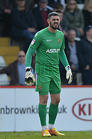 Tom King of Stevenage during Stevenage vs Cambridge United, Sky Bet EFL League 2 Football at the Lamex Stadium on 14th April 2018