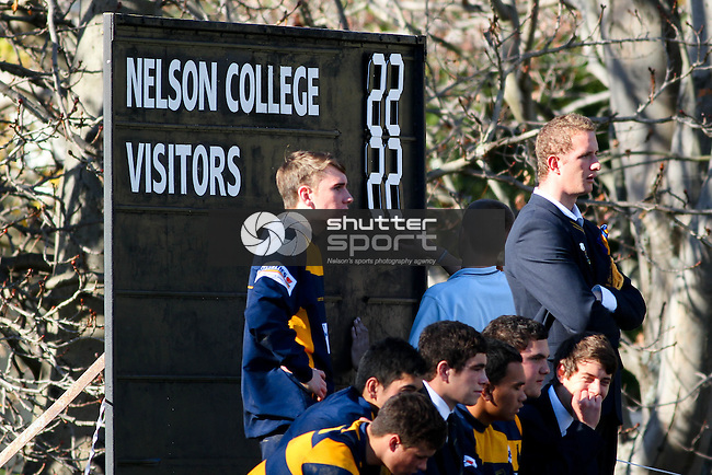 Nelson College v Marlborough Boys' College, Press Cup, 30 May 2013, Nelson, New Zealand<br /> Photo: Marc Palmano/shuttersport.co.nz
