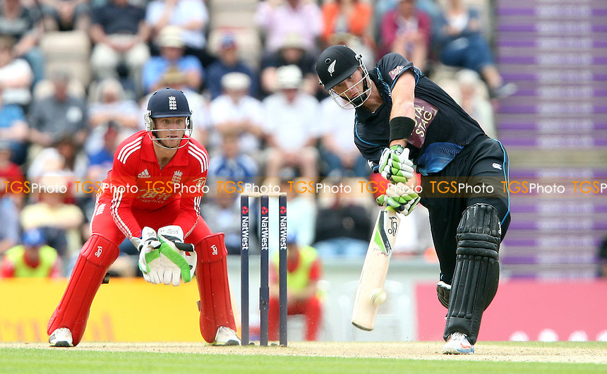 Martin Guptill of New Zealand in batting action - England vs New Zealand, Natwest Series One Day International Cricket at the Ageas Bowl, Hampshire - 02/06/13 - MANDATORY CREDIT: Rob Newell/TGSPHOTO - Self billing applies where appropriate - 0845 094 6026 - contact@tgsphoto.co.uk - NO UNPAID USE