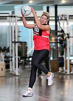 02.09.2016 Silver Ferns Storm Purvis during training in Melbourne Australia. Mandatory Photo Credit ©Michael Bradley.