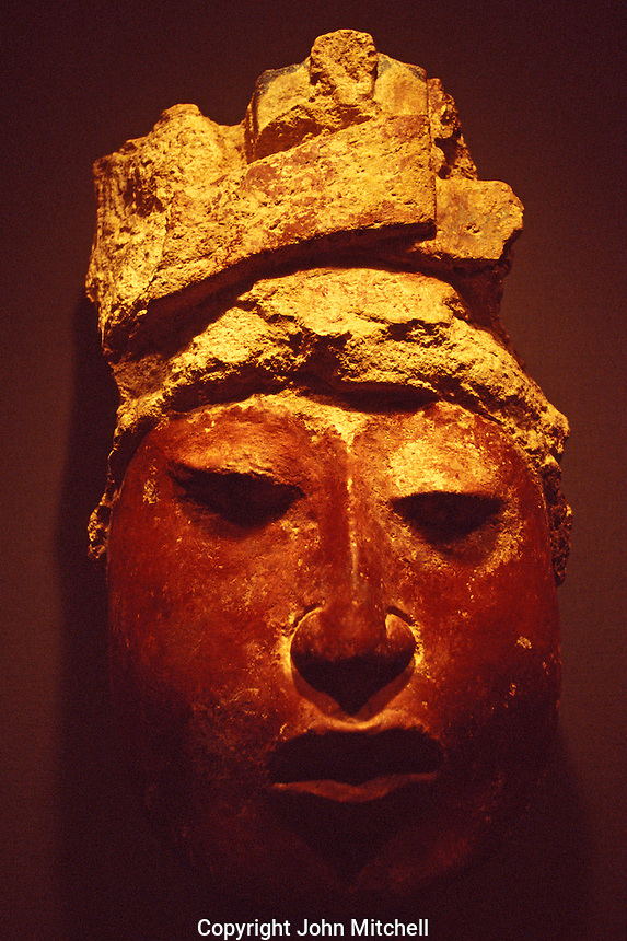 Monumental Head from the Maya Lowlands of Guatemala, Rockefeller Center for Latin American Art, San Antonio, Texas