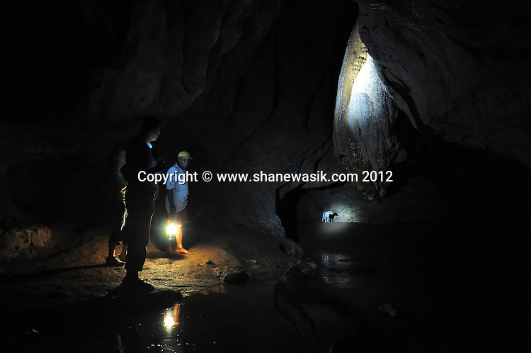 Exploration of the large cave and caverns of Wailotua.
