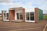 Bright Build show home prefabricated building at former US Air Force Bentwaters base, Rendlesham, Suffolk, England