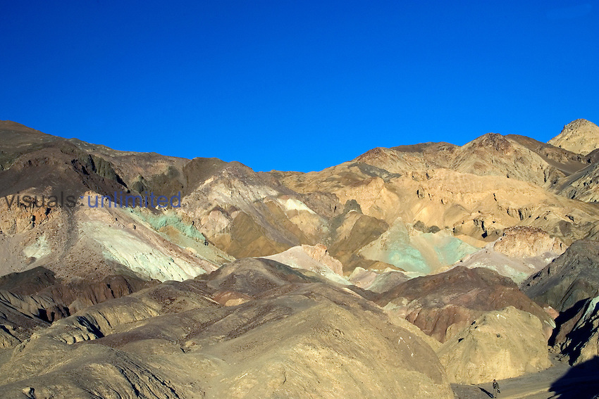 Mineral deposits create many colors at the Artist's Palate, Death Valley National Park, California, USA.