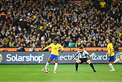 June 9th 2017, Melbourne Cricket Ground, Melbourne, Australia; International Football Friendly; Brazil versus Argentina; Willian Silva of Brazil gains possession of the ball