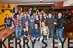 Laurence Lynch from Valentia seated front centre celebrated his 21st birthday in the Bay View Hotel , Waterville on Saturday night with family and friends.