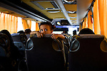A young bus passenger near Al Qaeda, Yemen, Nov. 29, 2009. Lawlessness, growing poverty, a water crisis, a raging conflict with Houthi rebels in Yemen's north and clashes with separatists in the South continue to destabilize the Arabian Peninsula's poorest state.