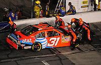 Jul. 5, 2008; Daytona Beach, FL, USA; NASCAR Sprint Cup Series driver Jeff Burton is pushed back to the garage after crashing during the Coke Zero 400 at Daytona International Speedway. Mandatory Credit: Mark J. Rebilas-