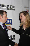 Actor Matthew Broderick and Kathleen Marshall (choreographer & director) at Opening Night of Roundabout Theatre Company's Broadway production of The People in the Picture on April 28, 2011 at Studio 54 Theatre, New York City, New York. (Photo by Sue Coflin/Max Photos)