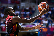 5th September 2017, Fenerbahce Arena, Istanbul, Turkey; FIBA Eurobasket Group D; Turkey versus Belgium; Point Guard Jonathan Tabu #9 of Belgium drives to the basket during the match