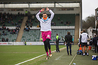 Barry Richardson of Wycombe Wanderers prepares to come on during the Sky Bet League 2 match between Plymouth Argyle and Wycombe Wanderers at Home Park, Plymouth, England on 30 January 2016. Photo by Mark  Hawkins / PRiME Media Images.