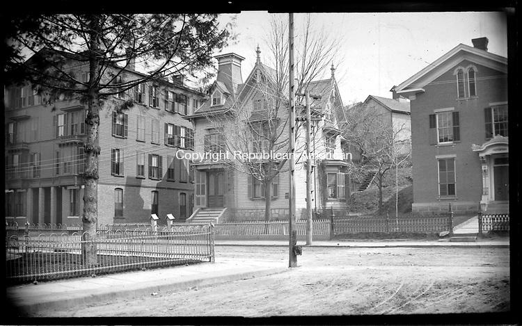 Frederick Stone negative. Stocking House 169 South Main St.reet April 6, 1889.