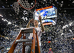 Nevada Nevada head coach Eric Musselman cuts down the net after win over San Diego State in an NCAA college basketball game in Reno, Nev., Saturday, Mar. 9, 2019. (AP Photo/Tom R. Smedes)