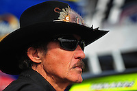 Feb 21, 2009; Fontana, CA, USA; NASCAR Sprint Cup Series team owner Richard Petty during practice for the Auto Club 500 at Auto Club Speedway. Mandatory Credit: Mark J. Rebilas-
