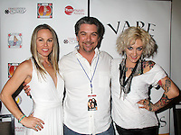 Christy Oldham, Jeremy Miller, Lulu Danger<br /> at the 'DemiGoddess Vape' Celebrity Lounge hosted by PhotoMundo Publishing, Westin Los Angeles Airport Hotel, Los Angeles, CA 07-09-16