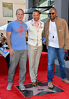 LOS ANGELES, USA. September 24, 2019: Terrence Howard, Dito Montiel & Malcolm D. Lee at Hollywood Walk of Fame Star Ceremony for actor Terrence Howard.<br /> Picture: Paul Smith/Featureflash