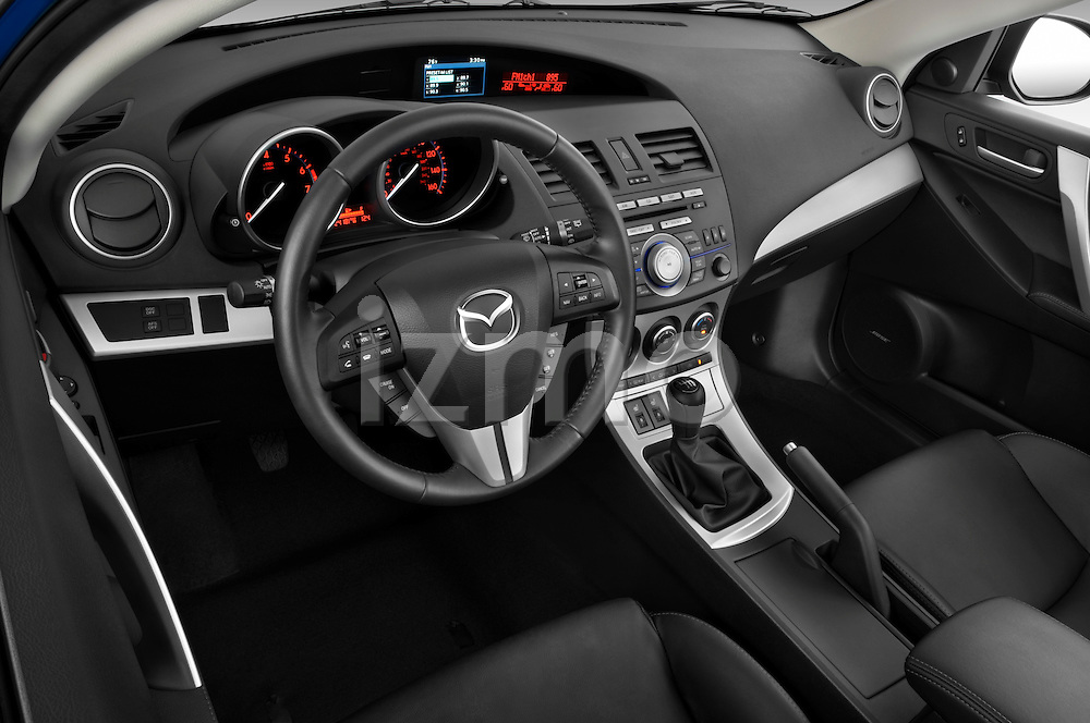 High angle dashboard view of a 2010 Mazda 3 5-Door S Grand Touring