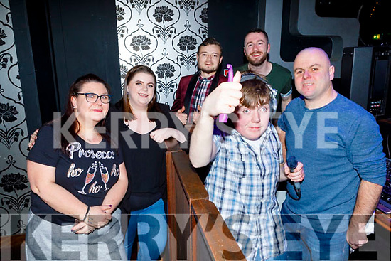 Enjoying the Enable Ireland Tralee, 'Rise' Disco in Benners Hotel on Saturday.<br /> Back l to r: Sinead Fitzgerald, Shauna Dineen, Kevin Andrew Looney, Michael Wren, Danny Tobin (DJ) and Ray Stack.