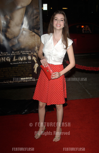 Actress MASIELA LUSHA at the world premiere, in Hollywood, of Taking Lives..March 16, 2004