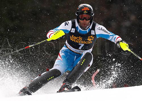 10.03.2013. Kranjska Gora, Slovenia.  Ski Alpine FIS World Cup Slalom for men.  Picture shows Mario Matt AUT