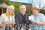 RTE presenter Miriam O'Callaghan with her uncle Jack and Marcela Finn when she called to Castleisland Day Care Centre to launch the residents new CD on Friday  ....