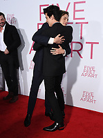 """07 March 2019 - Westwood, California - Dylan Sprouse, Cole Sprouse. """"Five Feet Apart"""" Los Angeles Premiere held at the Fox Bruin Theatre. Photo Credit: Birdie Thompson/AdMedia"""