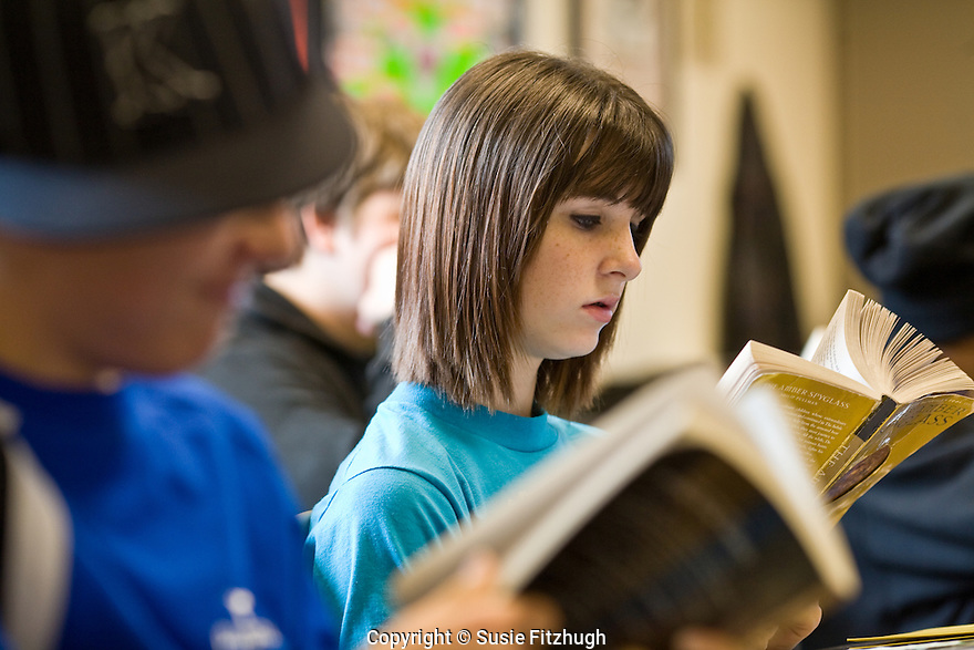 Studentswork under writer Rachel Kessler in Taryn Coe's class at Ballard High School. {Writers in the Schools]