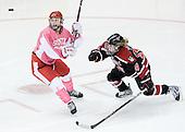 Marie-Philip Poulin (BU - 29), Casey Pickett (Northeastern - 14) - The Boston University Terriers defeated the visiting Northeastern University Huskies 3-2 on Saturday, January 28, 2012, at Agganis Arena in Boston, Massachusetts.