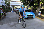 Tao Geoghegan Hart (GBR) Team Sky heads out for a morning training ride before Stage 1 of the La Vuelta 2018, an individual time trial of 8km running around Malaga city centre. Mijas, Spain. 23rd August 2018.<br /> Picture: Eoin Clarke | Cyclefile<br /> <br /> <br /> All photos usage must carry mandatory copyright credit (© Cyclefile | Eoin Clarke)