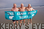 Brothers Morgan, Eddie and Liam Stack who formed the Banna polar bears swimming club on the night of the millenium.
