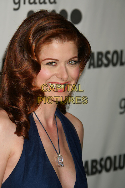 DEBRA MESSING.The 17th Annual GLAAD Media Awards - Arrivals..Los Angeles, California, USA,.8 April 2006.portrait headshot smiling navy blue dress necklace .Ref: ADM/RE.www.capitalpictures.com.sales@capitalpictures.com.©Russ Elliot/AdMedia/Capital Pictures.