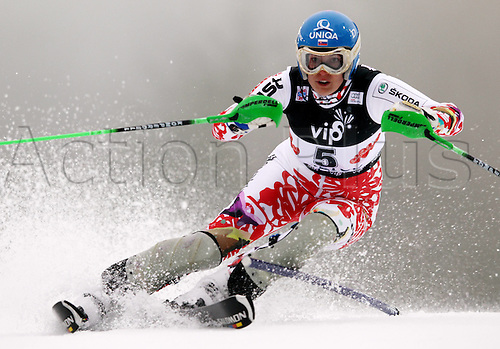 03 01 2012   Ski Alpine FIS WC Slalom for women  Zagreb Croatia  Night slalom Picture shows Veronika Zuzulova SVK