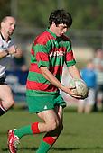 Waiuku fullback S. Betty about to kick. Counties Manukau Premier Club Rugby, Pukekohe v Waiuku  played at the Colin Lawrie field, on the 3rd of 2006.Pukekohe won 36 - 14