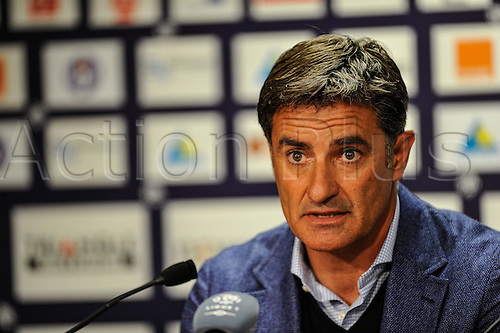 23.09.2015. Toulouse, France. French League 1 football. Toulouse versus Marseille.  Michel (om) the the after game press conference