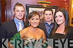 Lorcan Daly, Tara Evans, Michael O'Neill and Treasa Foley enjoying the Fossa Social in the Killarney Avenue on Saturday night....