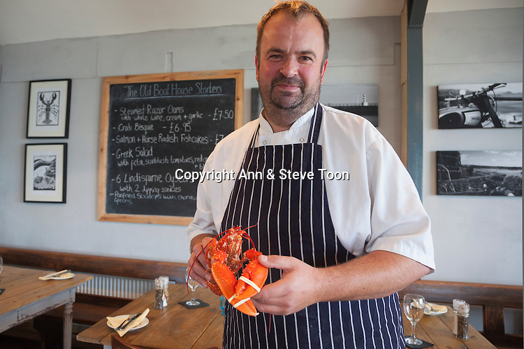 Richard Sim, chef-owner, The Old Boat House restaurant, Amble, Northumberland, September 2013