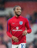 Kasey Palmer (Huddersfield Town (on loan from Chelsea) of England U21 warms up ahead of the UEFA EURO U-21 First qualifying round International match between England 21 and Latvia U21 at the Goldsands Stadium, Bournemouth, England on 5 September 2017. Photo by Andy Rowland.