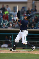 A.J.Reed (40) of the Lancaster JetHawks bats during a game against the San Jose Giants at The Hanger on April 11, 2015 in Lancaster, California. San Jose defeated Lancaster, 8-3. (Larry Goren/Four Seam Images)
