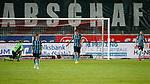 09.06.2020, xtgx, Fussball 3. Liga, Hallescher FC - SV Waldhof Mannheim emspor, v.l. Mannheim nach Tor zum 3:0 durch Julian Guttau (Halle, 24) enttaeuscht, schaut enttaeuscht, niedergeschlagen, disappointed  beim Spiel in der 3. Liga, Hallescher FC - SV Waldhof Mannheim.<br /> <br /> Foto © PIX-Sportfotos *** Foto ist honorarpflichtig! *** Auf Anfrage in hoeherer Qualitaet/Aufloesung. Belegexemplar erbeten. Veroeffentlichung ausschliesslich fuer journalistisch-publizistische Zwecke. For editorial use only. DFL regulations prohibit any use of photographs as image sequences and/or quasi-video.