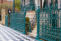 66512-00107 Iron fence and decorations on John Rutledge House Inn Bed & Breakfast, Charleston, SC