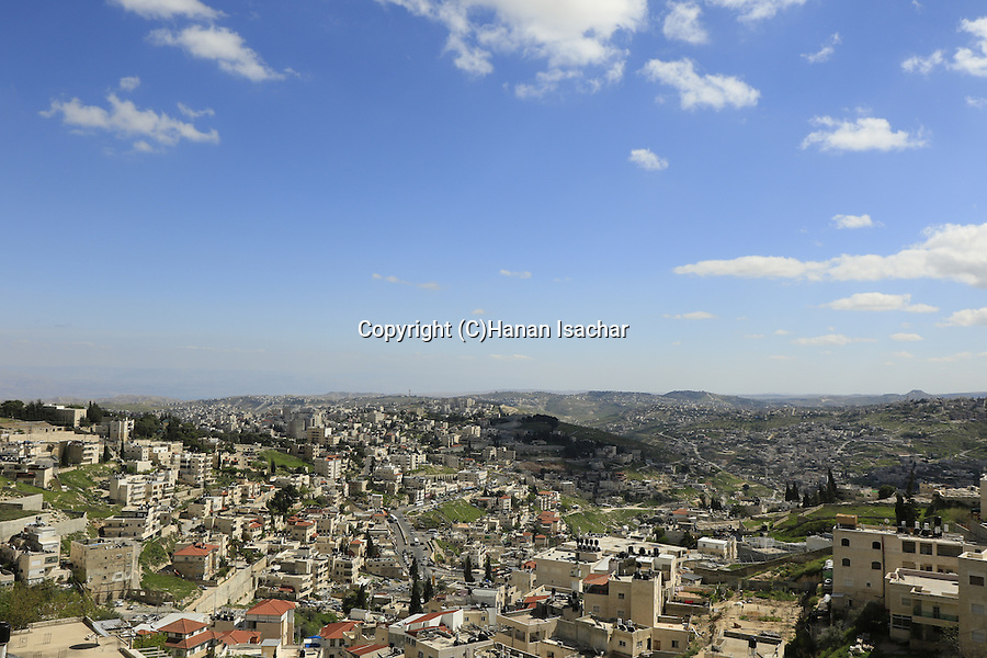 Israel, Jerusalem, a view South East from the Mount of Olives