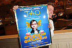 Perez Hilton holds up his Tweetup poster for his birthday celebration at TAO, Las Vegas, NV, April 1, 2010 © Al Powers / RETNA ltd