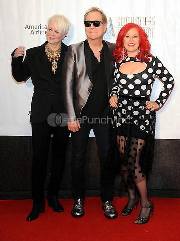 NEW YORK, NY - JUNE 09:  Cindy Wilson, Fred Schneider and Kate Pierson of the B-52s' attends the 47th Annual Songwriters Hall Of Fame Induction And Awards Gala at The New York Marriott Marquis on June 9, 2016 in New York City.  Photo Credit:John Palmer/ Media Punch