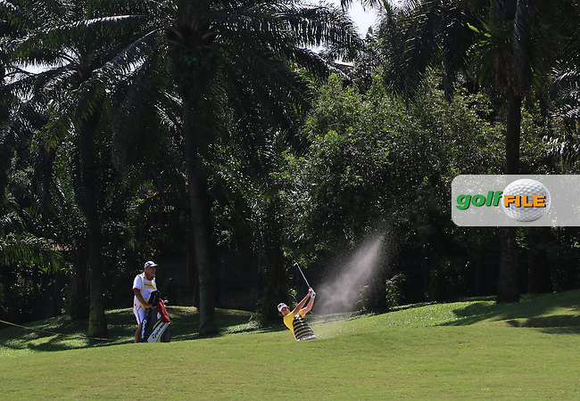 Niall Turner (IRL) on the 18th during Round 4 of the Maybank Championship on Sunday 12th February 2017.<br /> Picture:  Thos Caffrey / Golffile<br /> <br /> All photo usage must carry mandatory copyright credit     (&copy; Golffile | Thos Caffrey)