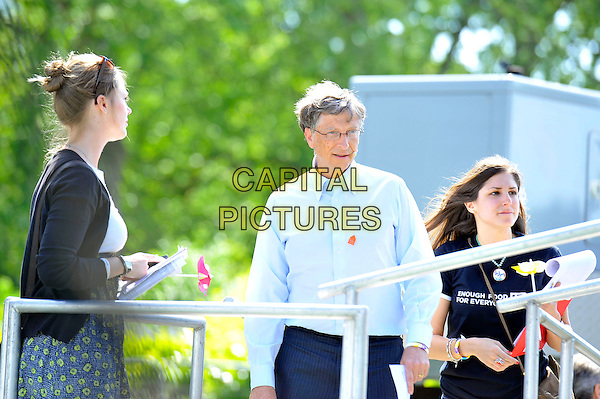 Bill Gates<br /> attending The Big IF, Hyde Park, London, England. <br /> 8th June 2013<br /> half length blue shirt glasses <br /> CAP/MAR<br /> &copy; Martin Harris/Capital Pictures