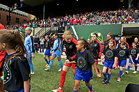 Portland, OR - Saturday April 29, 2017: Emily Sonnett prior to a regular season National Women's Soccer League (NWSL) match between the Portland Thorns FC and the Chicago Red Stars at Providence Park.