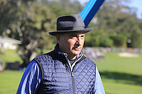 Actor Andy Garcia at Pebble Beach Golf Links during Saturday's Round 3 of the 2017 AT&amp;T Pebble Beach Pro-Am held over 3 courses, Pebble Beach, Spyglass Hill and Monterey Penninsula Country Club, Monterey, California, USA. 11th February 2017.<br /> Picture: Eoin Clarke | Golffile<br /> <br /> <br /> All photos usage must carry mandatory copyright credit (&copy; Golffile | Eoin Clarke)